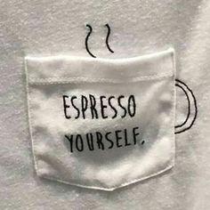 Чашечку кофе? / Футболки DIY / ВТОРАЯ УЛИЦА карман