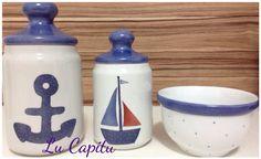 Pintura em porcelana. Kit higiênico de bebê. Porcelain. Luciana domingos. Lu Capitu.