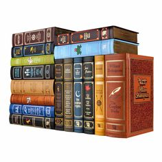 The Canterbury Classicsseries of leather bound classics makes an attractive addition to any bookshelf. Each book features gold stamped designs, gilded pag
