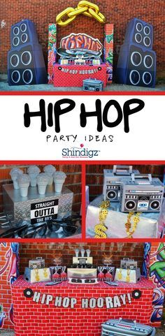 Take it old school with @greygreydesigns at her Hip Hop birthday party! Get all the details on our party ideas blog!