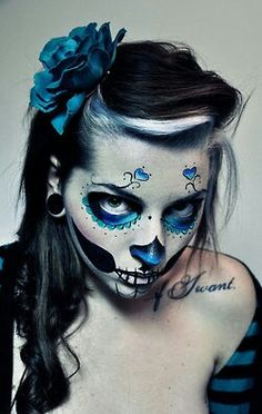 Make up from tumblr day of the dead
