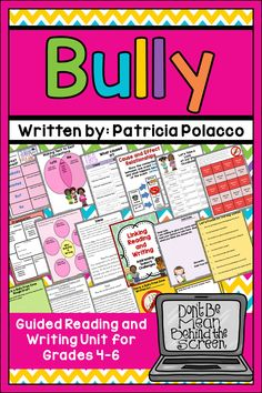 Bully is the perfect book for counselors, IT, and classroom teachers. Bully deals with bullying/cyber bullying, cliques, internet safety, and welcoming new students to school. This bundle is designed in a before, during, and after format. The reading activities included address the following skills in both Digital for Google Apps and PDF formats: Topics include: schema builder, vocabulary cause/effect relationships, making connections,story elements, summarizing character traits etc.