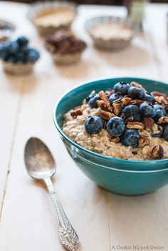 Blueberry Pancake Overnight Oats make an easy, tempting breakfast for Phase 3. Scatter 1 cup of blueberries over each serving, sweeten with stevia, and enjoy with a veggie.