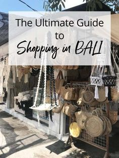 Ultimate Guide to Shopping in Bali Indonesia - From Seminyak to Ubud, don't miss these hidden shopping gems. Voyage Bali, Destination Voyage, Bali Travel Guide, Asia Travel, Travel Tips, Travel Guides, Places To Travel, Places To Visit, Bali Indonesia