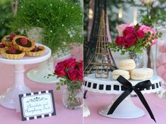 french theme- buffet table  rooms themed: museum ( art gallery) , winery (bar), cafe/patissery( kitchen)