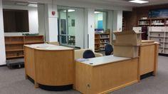 library furniture circulation desk - Google Search
