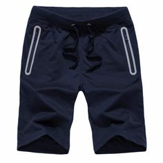 Casual Shorts Men Plus Size Drawstring Simple All-match Summer Leisure Pockets Knee Length Mens Trendy Cotton High Quality Chic Relieving Rheumatism And Cold Casual Shorts