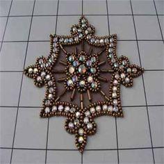 Rhinestone Applique - Bronze  www.bergerbeads.net  $16.85