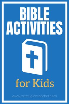 This collection of Bible activities for kids will help you lead your students into an encounter with Christ through the written Word of God. This post includes links to crafts, videos, skit scripts, Bible worksheets, and more. Bible Activities For Kids, Bible Study For Kids, Church Activities, Catholic Religious Education, Religious Studies, Catholic Bible Readings, Learn The Bible, Christian Preschool, Teaching Kids