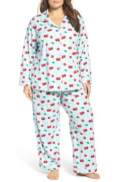 Cuddle up with these cute and cozy cherry heart pajamas