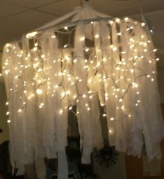 My favorite decoration from ACA Senior Night.   Hula hoop  chandelier.  So easy!