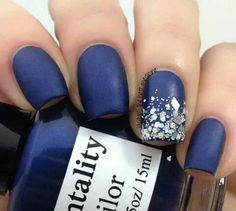 In seek out some nail designs and ideas for your nails? Here is our list of 29 must-try coffin acrylic nails for stylish women. Gorgeous Nails, Love Nails, Fun Nails, Navy Blue Nails, Navy Nail Art, Blue Matte Nails, Pink Nail Designs, Nails Design, Dark Nails