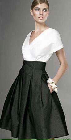 Formal Long Full Black Skirt And White Shirt What I