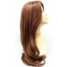 Long 24 Inch Straight Light Auburn W Strawberry Blonde Heat Resistant... ($50) ❤ liked on Polyvore featuring beauty products, haircare, hair styling tools, bath & beauty, grey, hair care and wigs