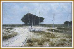 olieverf schilderij oilpainting heide te laren Fred Blansert Anton Mauve
