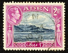 "1939 Scott 16 green ""Aidrus Mosque"" Quick History Aden is a city now in Yemen along the Gulf of Aden on the Red Sea."