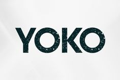 Yoko is a new sans experimental font with texture and attitude. Sans Serif Fonts, Typography Fonts, Typography Design, Lettering, Intelligent Design, Typography Inspiration, Design Inspiration, Yoko, Premium Fonts