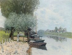 La Seine à Bougival Alfred Sisley