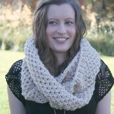 Chunky cowl snood double wrap