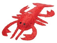 Red Lobster Pinata-looks like a crawfish! Lobster Party, Lobster Fest, Lobster Boil, Red Lobster, Crab Boil, Lobster Bisque, Seafood Boil, Kid Party Favors, Party Hats