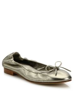 1c6658d8fbe MANOLO BLAHNIK Tobaly Metallic Leather Ballet Flats.  manoloblahnik  shoes   flats