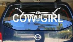 Cowgirl Stickers for Trucks   COWGIRL LONGHORN DECAL **CHOICE OF COLOURS** car truck ute sticker ...