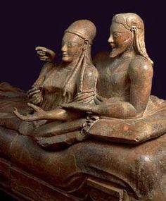 Etruscans: Sarcofago degli Sposi, Cerveteri,iMuseo Nazionale Etrusco  Villa Giulia, Roma