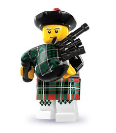 LEGO Minifigures Series 7: Bagpiper Tartan, Plaid, Minions, Lego People, Highland Games, Lego Minifigure, Men In Kilts, Lego Friends, Lego Creations