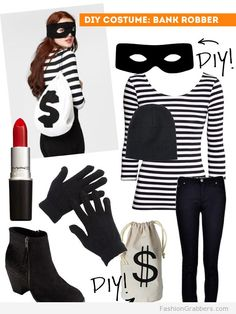 Last minute Halloween Costume Bank Robber