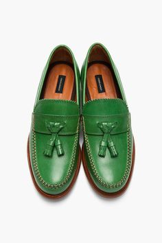 DSQUARED2 Green Leather