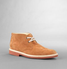 Swap your brown chukkas for soles with spirit.