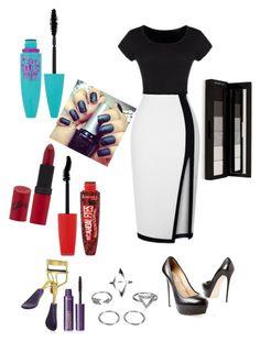 """Dress 2"" by analinagalaviz ❤ liked on Polyvore featuring Valentino, Maybelline, Rimmel, tarte and shu uemura"
