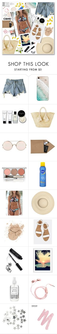 """""""Summer Splash"""" by anadlangel ❤ liked on Polyvore featuring Gray Malin, Bobbi Brown Cosmetics, Giselle, Sunday Somewhere, STOW, Chantecaille, Nivea, Rip Curl, Arbonne and Herbivore"""