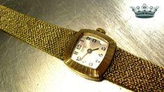 """""""Flechtgold"""" 60er Vintage Armbanduhr  Walzgold von Mont Klamott - Sachen & Dinge vom Zauberberg - Liebzuhabendes, Zuverschenkendes, Verspieltes, Überladenverziertes, Tickendes, Klunkerndes, Amüsierendes, Zauberhaftes, Überraschendes, Träumerisches, Verzierendes, Vintage, Antikes, Kuriositäten, Sammlerstücke, Schmuck & Uhren ... auf DaWanda.com"""