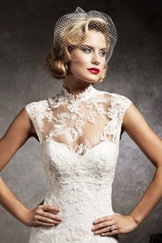 brides of adelaide magazine - high neck wedding dress - fashion - couture wedding - turtleneck wedding dress - lace