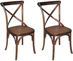 One Kings Lane Tuileries Side Chairs - Set of 2