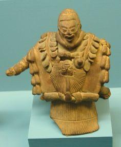 Figura en cerámica de Jaina expuesta en el American Museum of Natural History de Nueva York. Maya,Campeche,Mexico