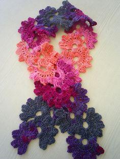 crocheted scarf by riavandermeulen, via Flickr