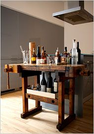Antique carpenter's workbench - would love to repurpose one for an island