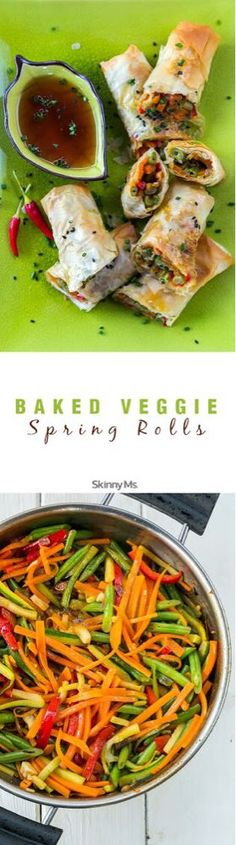 A delicious and familiar taste of Asia without the added deep fried calories! #Spring_Rolls #Healthy