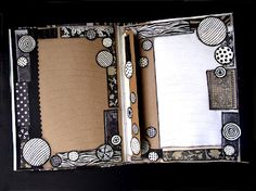Page in File Folder Journal. All ready for journaling on.