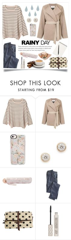 """Rainy Day"" by linmari ❤ liked on Polyvore featuring MANGO, Pringle of Scotland, Casetify, Adina Reyter, Ted Baker, Wrap and Topshop"