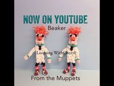 Rainbow Loom BEAKER from The Muppet Show - Looming WithCheryl. Tutorial is Now on YouTube! charms / figures / gomitas / gomas. Please Subscribe ❤️❤ m.youtube.com/user/LoomingWithCheryl