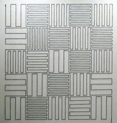 "Vera Molnar, ""Path at right angles (installation)"", 2011, wool yarn and nails, 250 x 250 x 5 cm [Cat. 201101]"