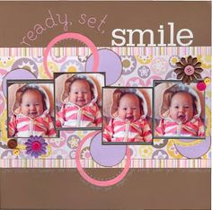 #papercraft #scrapbook #layout.  A Little Bit of Patti: Baby Boy & Girl Layout Ideas