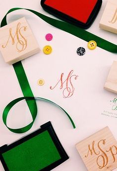 Custom monogram rubber stamp http://rstyle.me/~1LEVZ