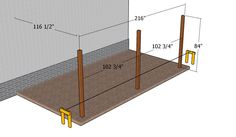This step by step diy woodworking project is about how to build an attached carport. Learn how to build a carport attached to an already existing building, by paying attention to the instructions described in the article. Diy Pergola Kits, Carport Plans, Pergola Carport, Pergola Plans, Backyard Pergola, Pergola Shade, Patio Plans, Cheap Pergola, Pergola Ideas