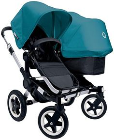 Bugaboo Donkey Complete Duo Stroller - 2015 - Petrol Blue - Aluminum