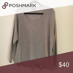 Super Soft Loose Grey Sweater Super soft part wool sweater. Sleeves are loose near the armpit and tighter on wrist. Flattering fit, versatile sweater. Trouve Sweaters Crew & Scoop Necks