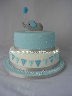 Image result for baby boy christening cakes